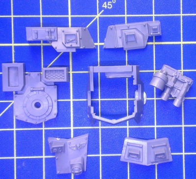 Wh40k AM Sentinel Armoured Parts