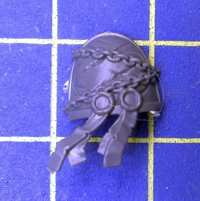 Wh40k Deathwatch Kill Team Shoulder Pad Black Shield