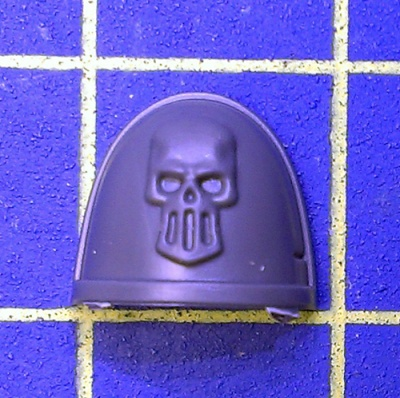 Wh40k Deathwatch Kill Team Shoulder Pad Silver Skulls