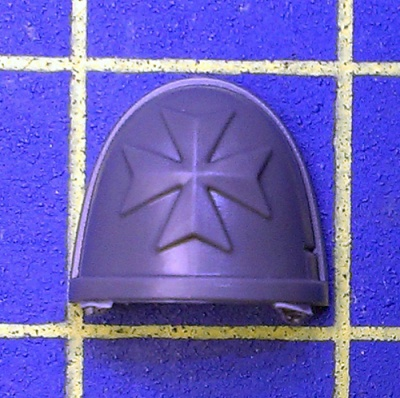 Wh40k Deathwatch Kill Team Shoulder Pad Black Templars