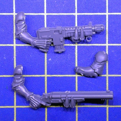 Wh40k Genestealer Cults Neophyte Hybrids 3th Gen Autogun/Shotgun A