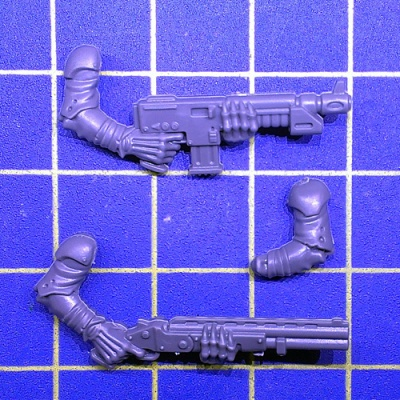 Wh40k Genestealer Cults Neophyte Hybrids 3th Gen Autogun/Shotgun B