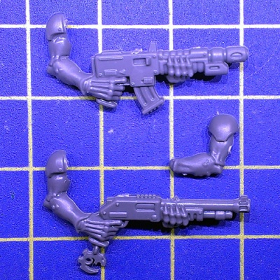 Wh40k Genestealer Cults Neophyte Hybrids 3th Gen Autogun/Shotgun D
