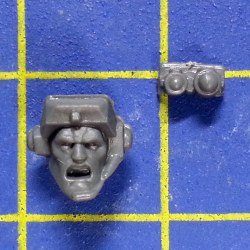 Wh40k SM Scouts with Sniper Rifles Head E