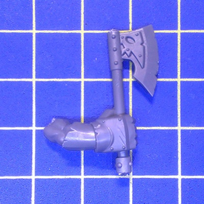 WhFB O&G Black Orcs One Hand Weapon Right B