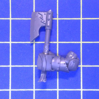 WhFB O&G Black Orcs One Hand Weapon Left D